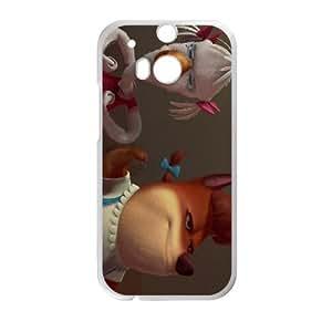 HTC One M8 Phone Case White Chicken Little Foxy Loxy DYW5157984