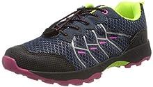 Lico Austin, Zapatos de Low Rise Senderismo para Niñas, Azul (Marine/Pink/Lemon Marine/Pink/Lemon), 36 EU