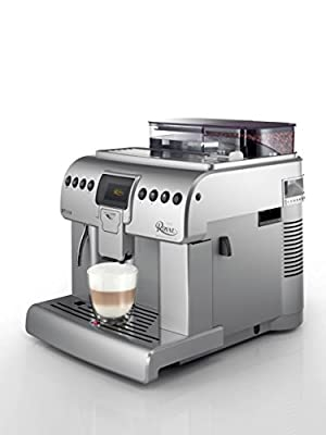SAECO SAECO ROYAL ONE TOUCH CAPPUCCINO Fully Automatic Espresso and Cappuccino Maker, 38 cm Height, 33.4 cm Width, 45.2 cm Length, Silver