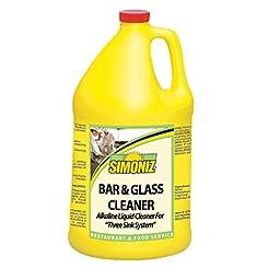 Simoniz B0225004 Bar Glass Cleaner, 1 gal Bottles per Case (Pack of 4)