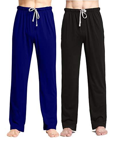 Personalized Mens Pajamas (CYZ Comfortable Jersey Cotton Knit Pajama Lounge Sleep)