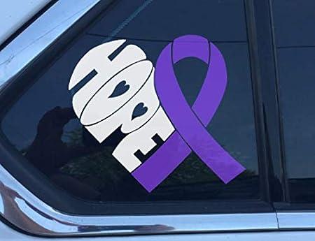 Craniosynostosis Awareness Ribbon 2 Vinyl Wall Decal or Car Sticker