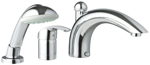 Grohe 32644001 Eurosmart Roman Tub Filler With Personal Hand Shower   Tub  Filler Faucets   Amazon.com