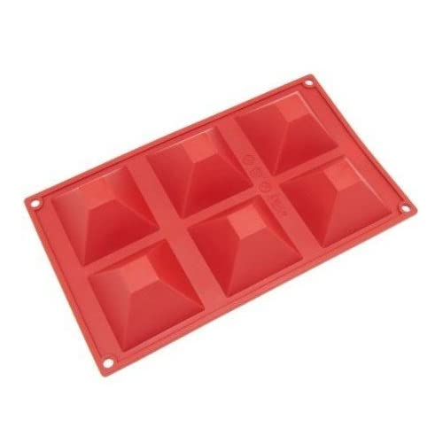 Allforhome(TM) 6 Pyramid DIY Silicone Cake Baking Mold Cake Pan Muffin Cups Handmade Soap Moulds Biscuit Chocolate Ice Cube Tray DIY Mold