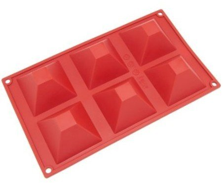 Allforhome 6 Pyramid DIY Silicone Cake Baking Mold Cake Pan Muffin Cups Handmade Soap Moulds Biscuit Chocolate Ice Cube Tray DIY Mold