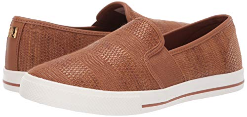 Lauren Ralph Lauren Women's Jinny Sneaker, tan, 10 B US