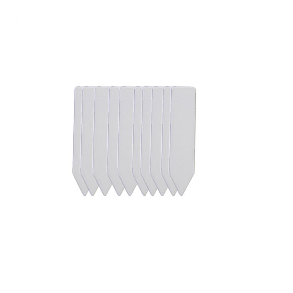 SoundsBeauty 100Pcs Garden Plant Pot Markers Plastic Stake Tags Yard Court Nursery Seed Label - White 100pcs
