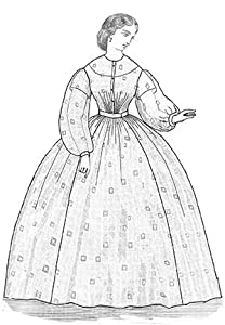 Victorian Sewing Patterns- Dress, Blouse, Hat, Coat, Mens 1863 Sheer Dress Pattern $17.70 AT vintagedancer.com