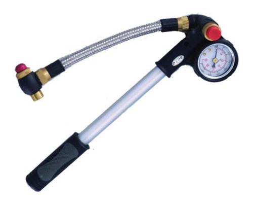 Beto 400Psi Shock Pump withGauge and Bleed Valve - Silver by Beto