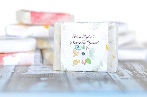 Personalized Mini Sample Size 24 pcs Guest Soap Favors. | For Bridal Shower, Wedding, Baby Shower, Birthday, Anniversary, Engagement Party, Corporate Event. | Handmade Natural Soap for Party Favors.