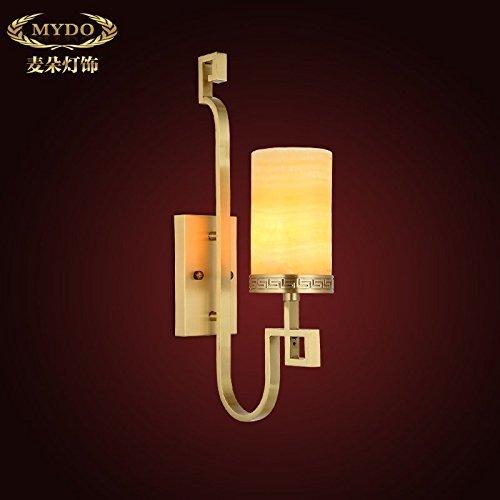 der neuen chinesischen High-End Kupfer Kupfer Nachttischlampe Lampe Beleuchtung Marmortreppe Retro Schlafzimmer Wohnzimmer Lampen