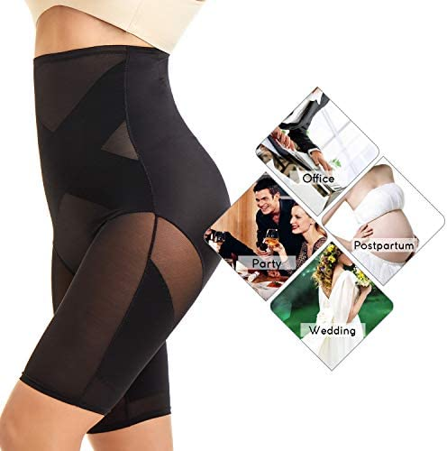 MOVWIN Tummy Control Body Shaper Shorts - High Waist Thigh Slimmer Panties Shapewear