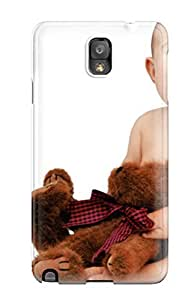 New Fashionable CaseyKBrown HDBzxfG1746ttckw Cover Case Specially Made For Galaxy Note 3(cute Baby With Teddy)