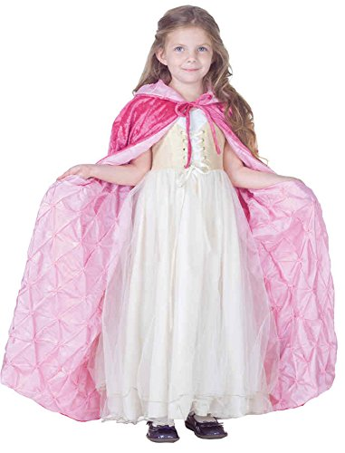 Costumes Velvet Pink Princess (UHC Girl's Princess Dark Pink Panne Velvet Cape Pintuck Lining Child Costume, S)