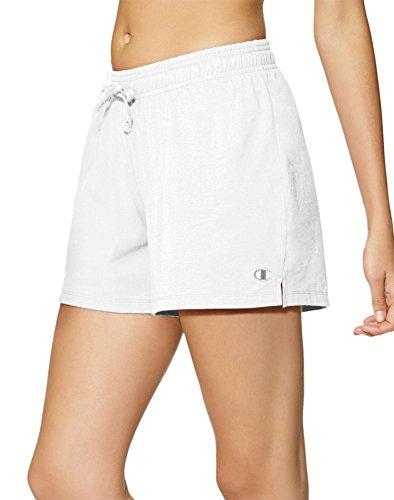 Champion Women's Jersey Short, White, Medium