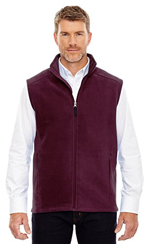 (Ash City Core 365 Men's Journey Fleece Vest, Small, Burgundy)