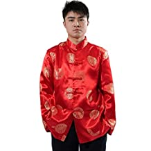 Shanghai Story Men's Dragon Print Chinese Tang Suit Kung Fu Jacket 6 Color
