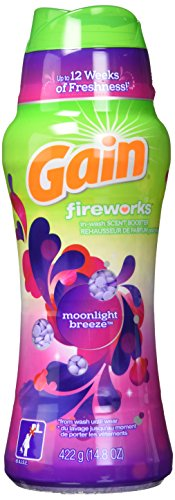 Gain Fireworks in-Wash Scent Booster Beads, Moonlight Breeze, 14.8 Ounce ()