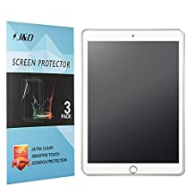 New iPad 9.7 inch 2017 Screen Protector, J&D [Anti-Glare] [Anti-Fingerprint] Premium Matte Film Shield Screen Protector for New iPad 9.7 inch, iPad Pro 9.7 inch, iPad Air, iPad Air 2 (3 Packs)