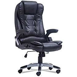 Soberbar  6 Point Wireless Game Massage Chair 360° Rotation Swivel High-Back Executive Ergonomic Home Office Computer Chair Height Adjustable(Black)