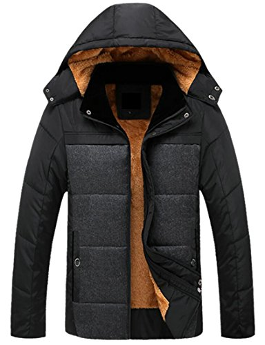 Winter Quilted Removable Coat with Men's Puffer Thicken Gocgt Hooded Jacket 1 f5qaBPIac