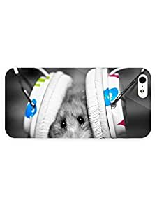 3d Full Wrap Case For Sam Sung Galaxy S5 Mini Cover Animal Hamster Wearing Headphones60