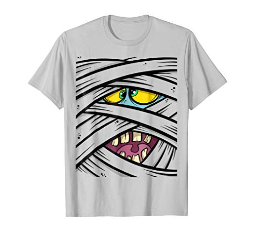 Mummy Costume Halloween T-Shirt Face -