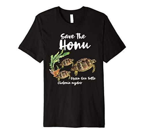 Save the Honu Green Sea Turtle Marine Ocean Premium T-Shirt