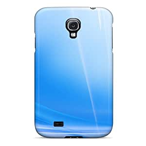 Excellent Design D Graphics Blue Fier Case Cover For Galaxy S4