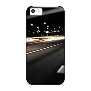 Iphone High Quality Tpu Case/ Black Road IkY13582QrJk Case Cover For Iphone 5c