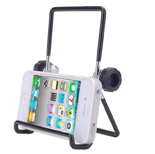niceEshop Universal Adjustable Portable Foldable Metal Holder Stand for Tablet PC,Black