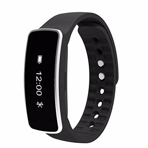Leoy88 Smart Bluetooth Bracelet Sleep Sports Fitness Activity Tracker Pedometer Bracelet Watch (Black)