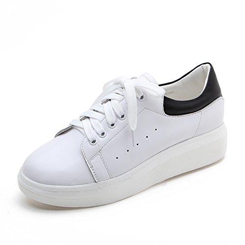 Zapatos De Las Mujeres Con Tamaño Grande/Zapatos Nude/Pequeños Zapatos Blanco/Zapatos Más grandes./Versión Coreana Cientos De Zapatos A