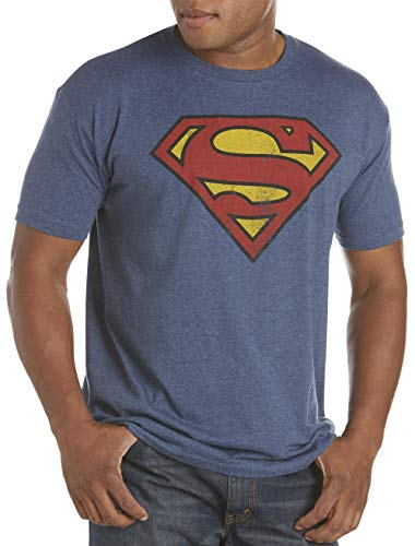 True Nation by DXL Big and Tall Classic Superman Logo Graphic Tee -
