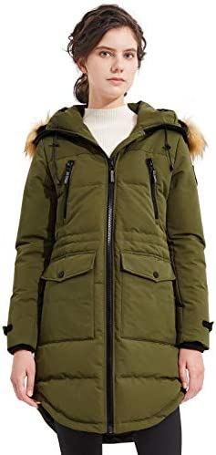 Orolay Women's Thickened Down Jacket Winter Coat Hooded Parka with Pockets