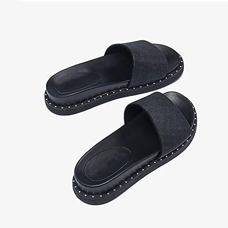 Moda Zapatillas Sandalias Y Mujer Plano Verano De Jianxin Fondo 7pgqwC