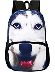 OpetHome Water Resistant Adjustable Nylon Backpack Animal Schoolbag Dog