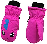HEMAW Kids Mittens Winter Snow Waterproof Thick Warm Windproof Gloves for 3-6 Year Old