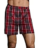 Hanes Ultimate Men's Tagless Tartan Boxers 5-Pack<>Multi<>Large