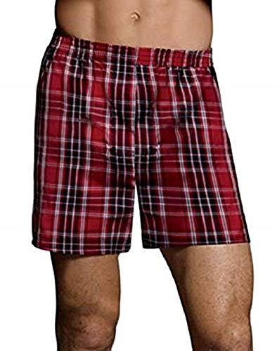 Hanes Ultimate Men's Tagless Tartan Boxers 5-Pack<>Multi<>Large by Hanes