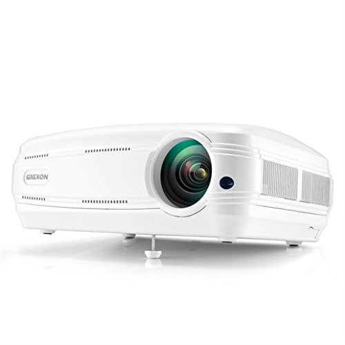 GIGXON 3200 Lumens HD 1080P LED Multimedia Practical Projector Home Theater Cinema VGA HDMI USB Dreamyth (White)