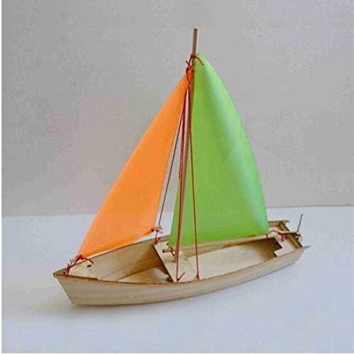 ZGYQGOO Segelboot Modell DIY Segelboot Modell Spielzeug Holzmaterial Lasergravur Prozess Kreatives handgemachtes Spielzeug Modell Schiff Lernspielzeug