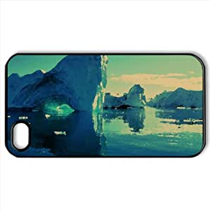 Icebergs Watercolor style Cover iPhone 4 and 4S Case (Antarctica Watercolor style Cover iPhone 4 and 4S Case)