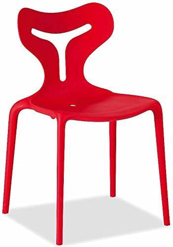 Calligaris Lot DE 4 chaises Area 51, Rouge: