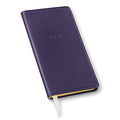 2018 Gallery Leather Pocket Monthly Planner Camden Violet 6'x3'