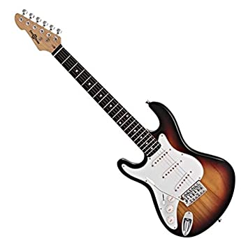 3/4 LA Left Handed Electric Guitar by Gear4music Sunburst: Amazon.es: Instrumentos musicales