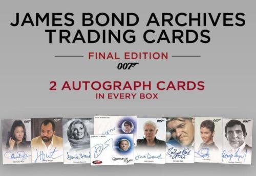 2017 James Bond Archives Final Edition Trading Cards Factory Sealed Hobby Box -