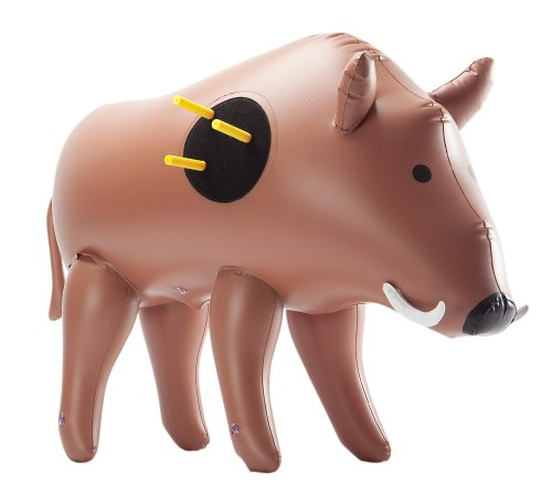 flatable Boar Target - Realistic Looking Inflatable Buck - Suitable for Indoor and Outdoor Play - For Hooka nd Loop Tipped Foam Darts ()