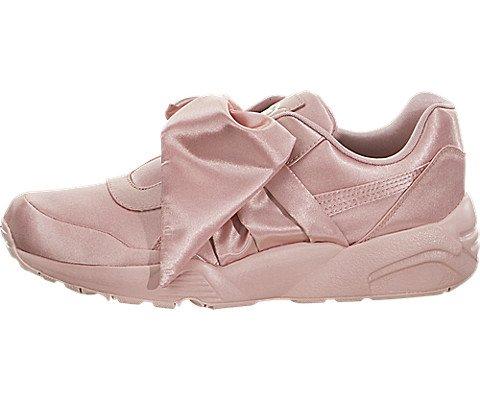 PUMA Women's Fenty x Bow Trinomic Sneakers, Silver Pink/Silver Pink, 8.5 B(M) US (Puma Trinomic Women)