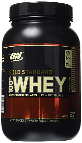 Optimum Nutrition 100% Gold Standard Whey Protein Cookies and Cream 2 lbs